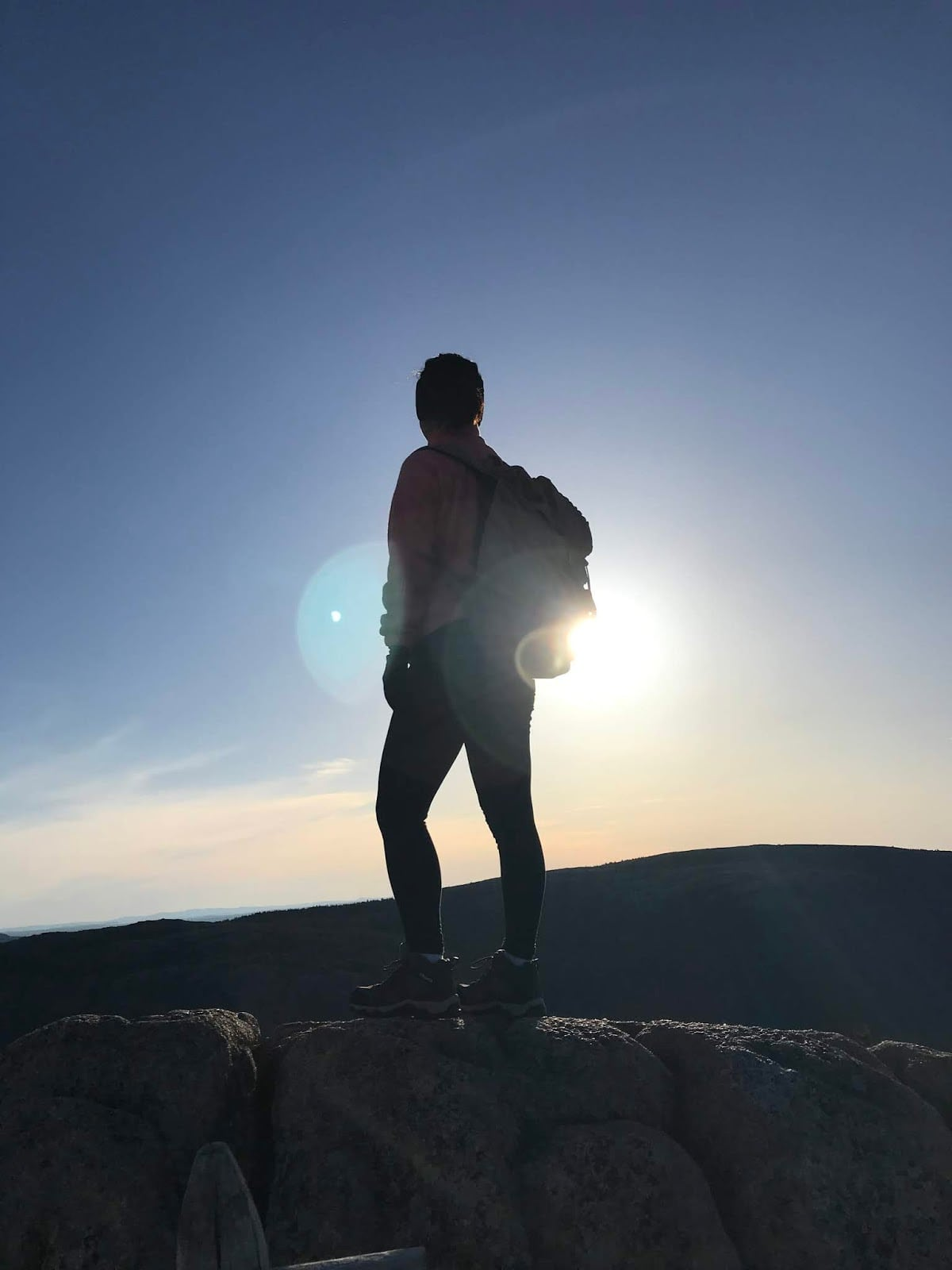 silhouette hiking