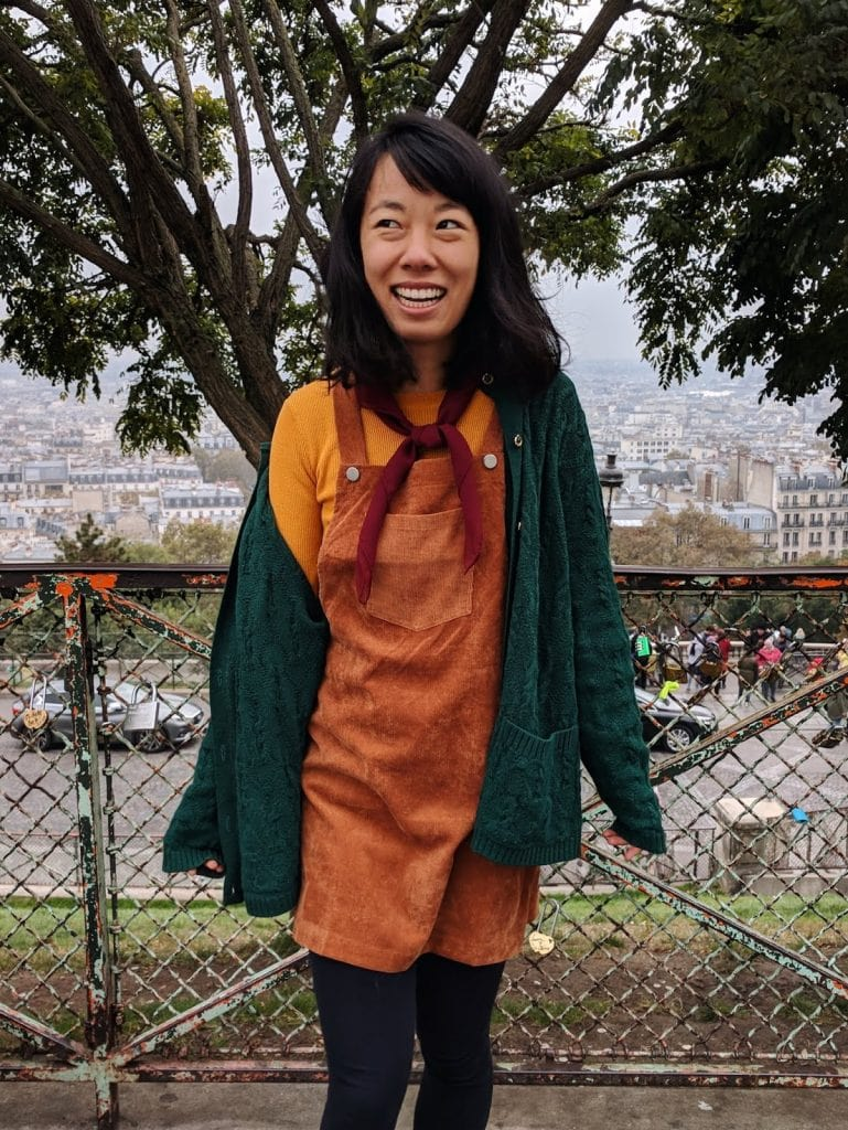how to style an overalls dress | imperfect idealist