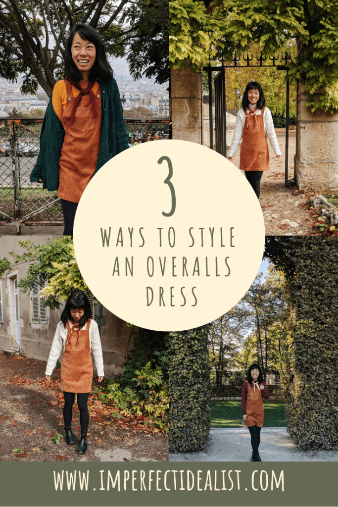 how to style an overalls dress | imperfect idealist #styleinspiration #fashion #overalls