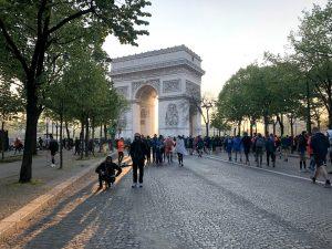paris marathon arc de triomphe