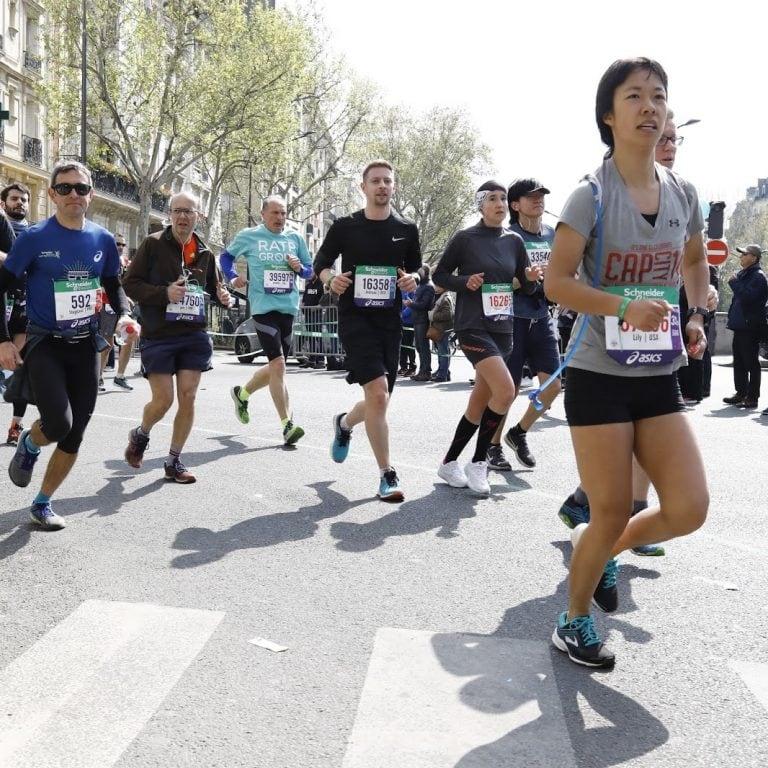 Running in the Paris Marathon 2019