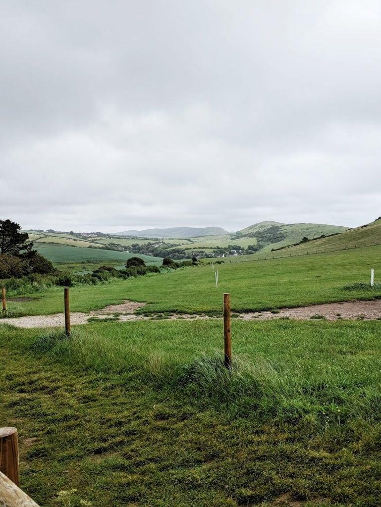 lush green English fields