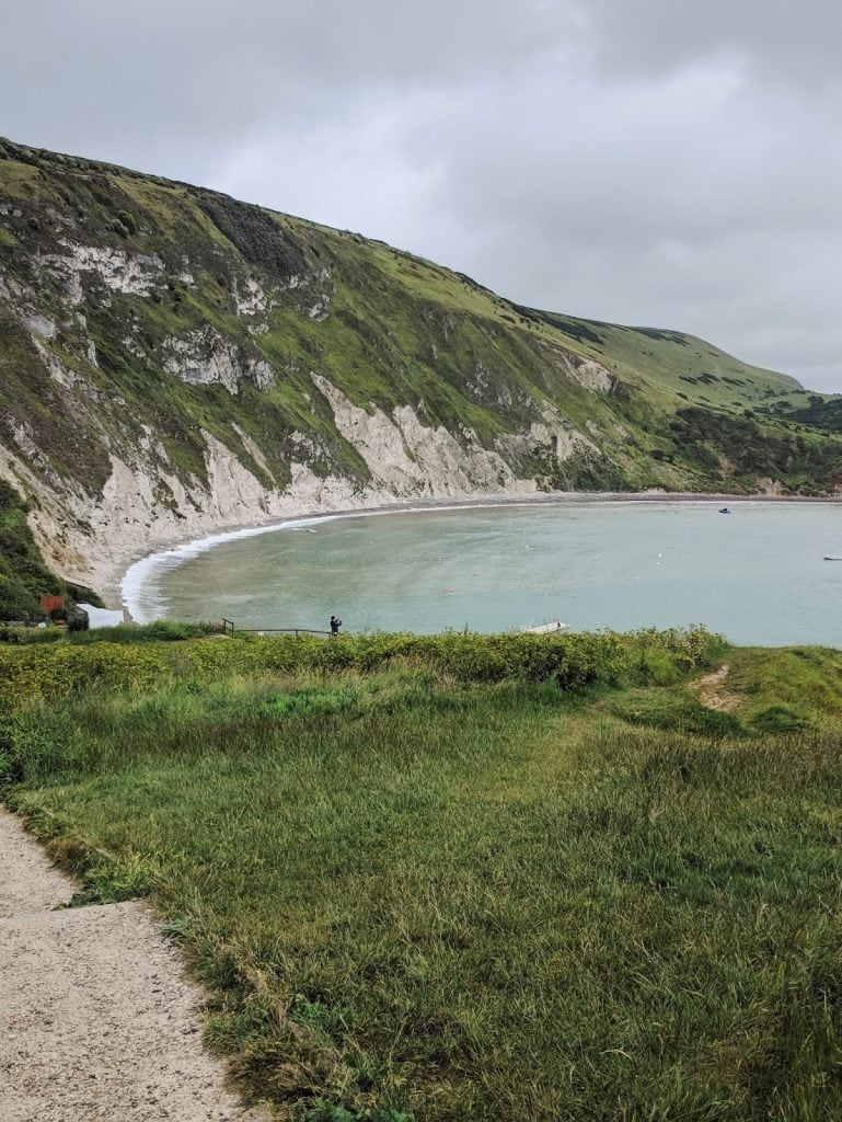 Lulworth cove's turquoise water