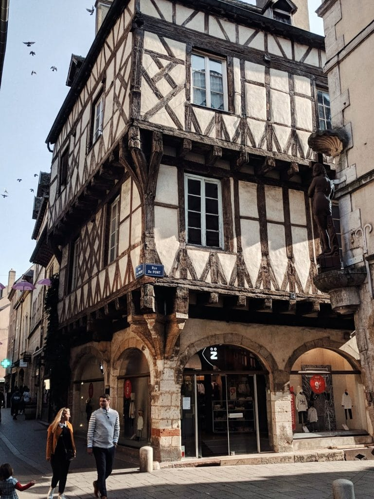 half timbered house burgundy