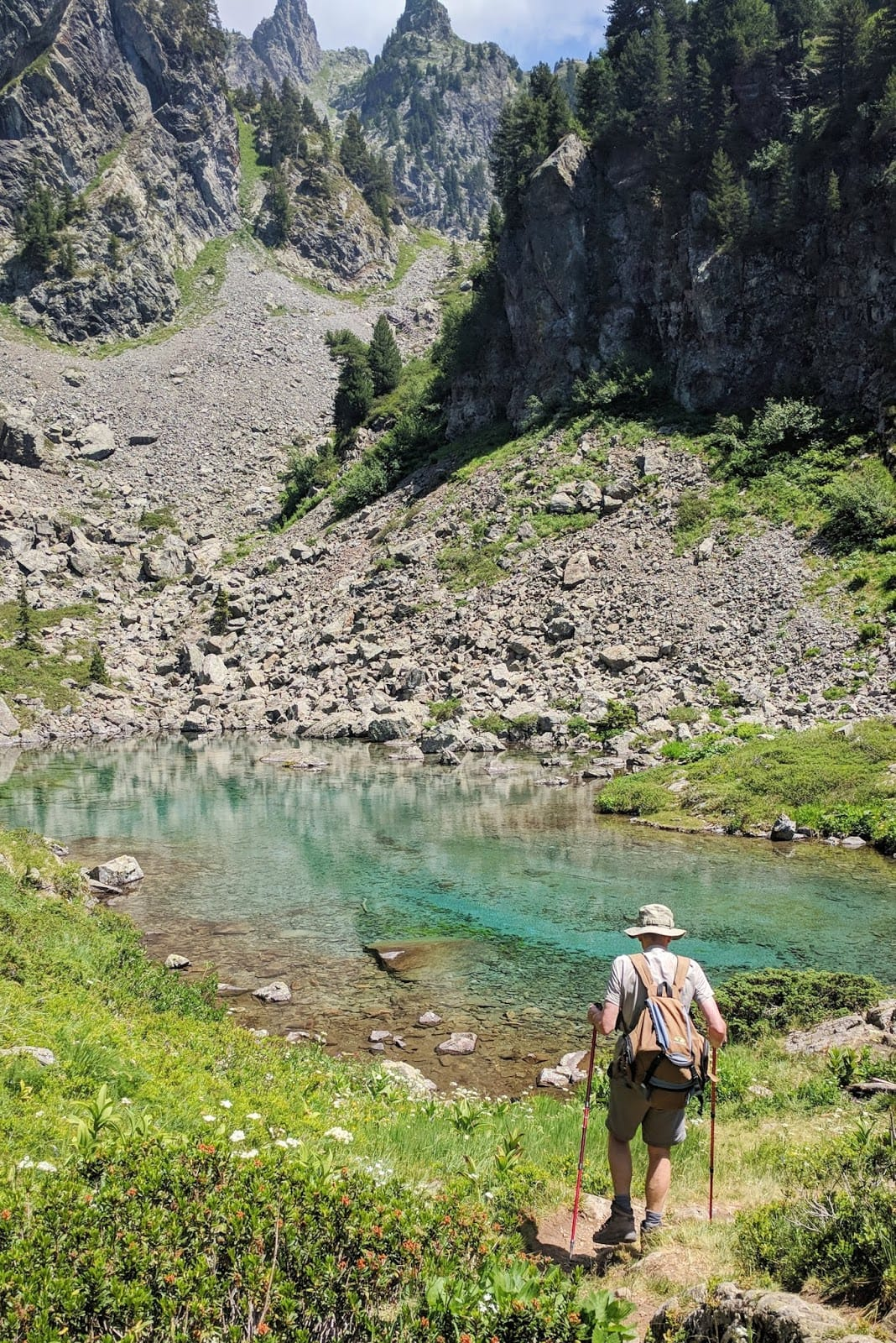 hiking to the turquoise waters of lac levetel in the chamrousse ski resort