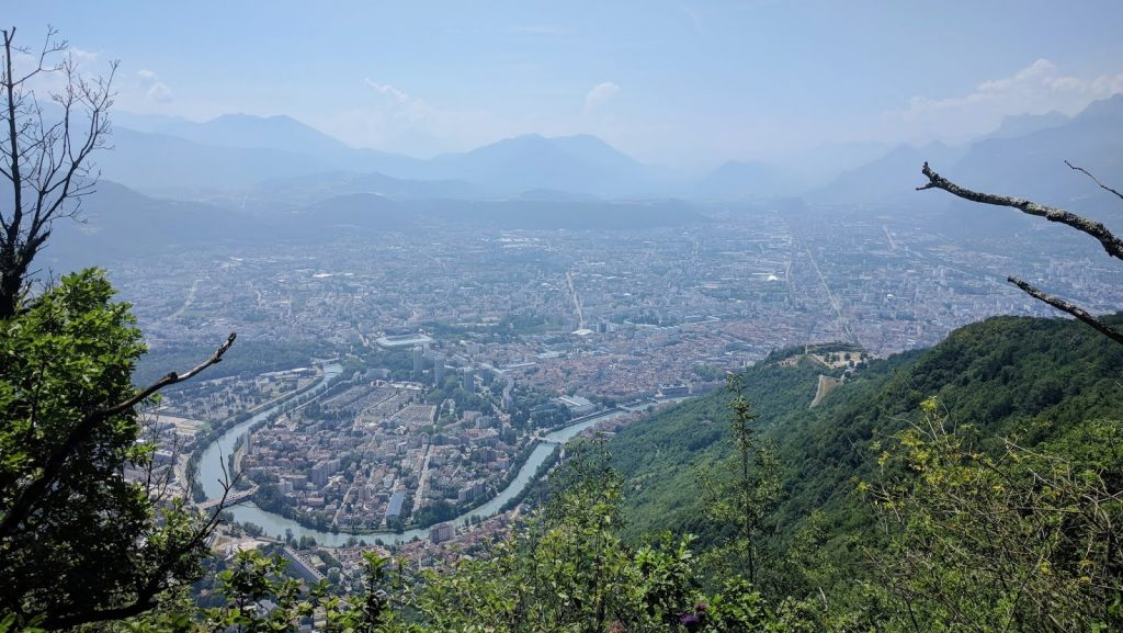 view of la tronche, grenoble from above