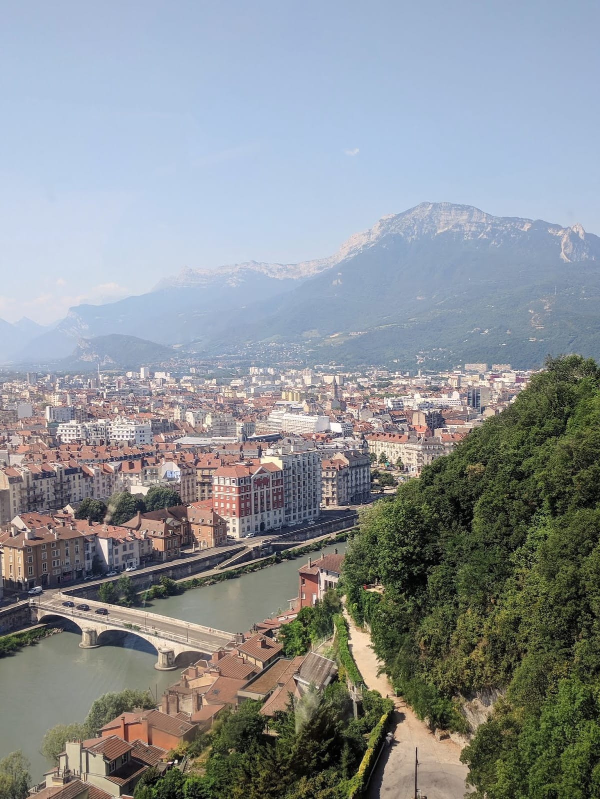 view from grenoble cable car