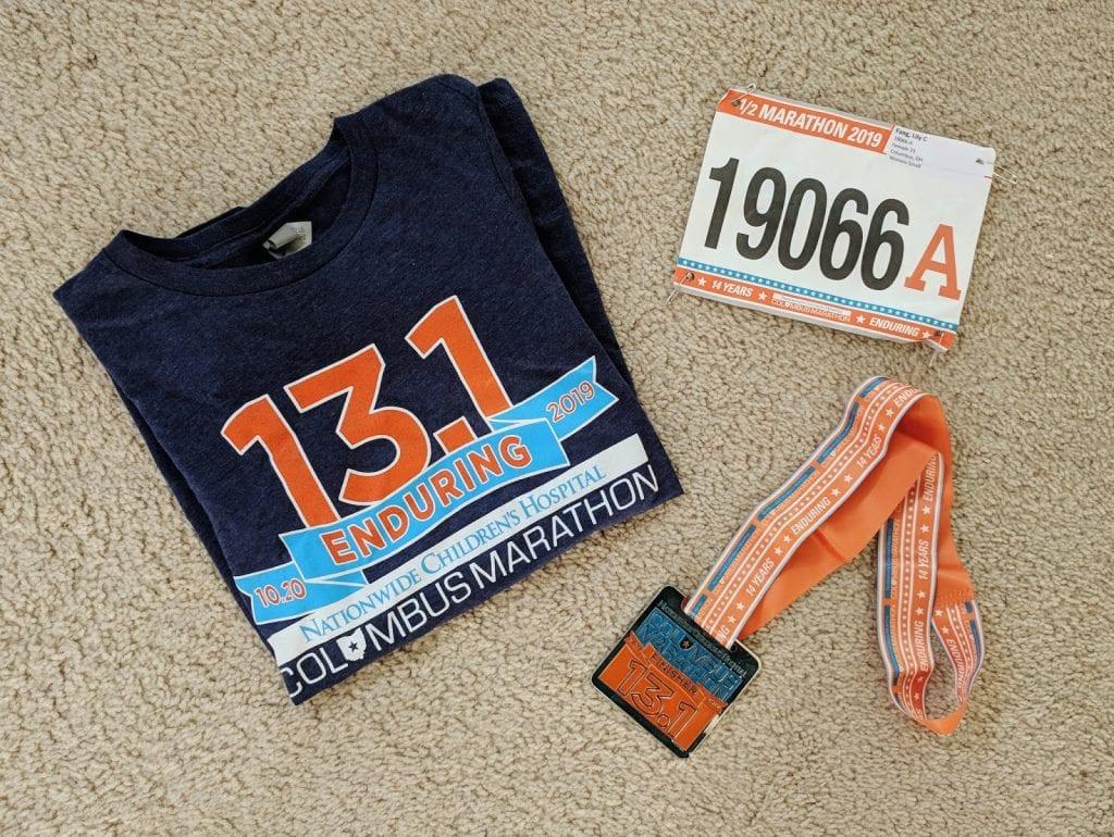 columbus half marathon swag