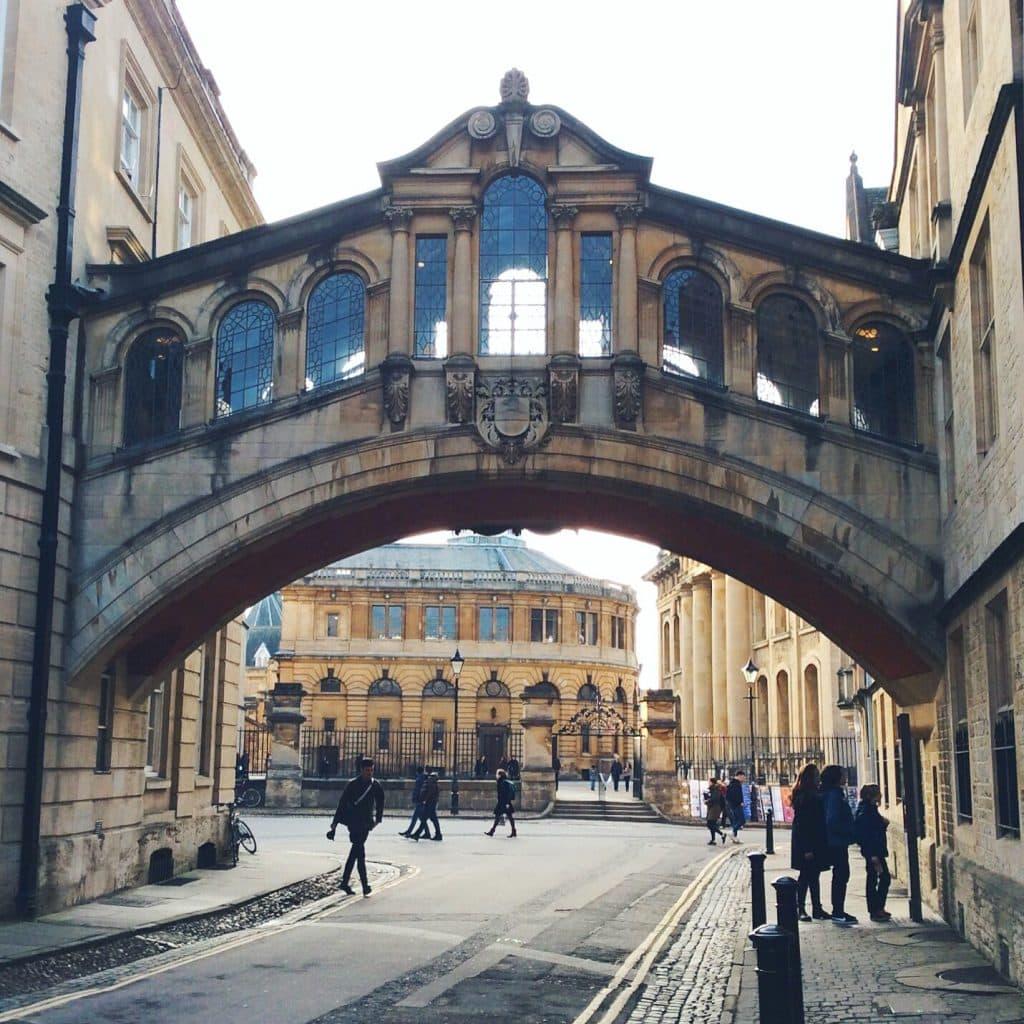 the famous Oxford Bridge of Sighs