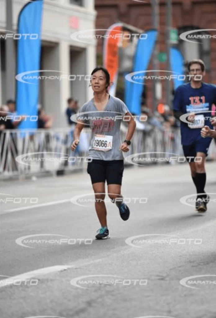ugly race photo columbus half marathon
