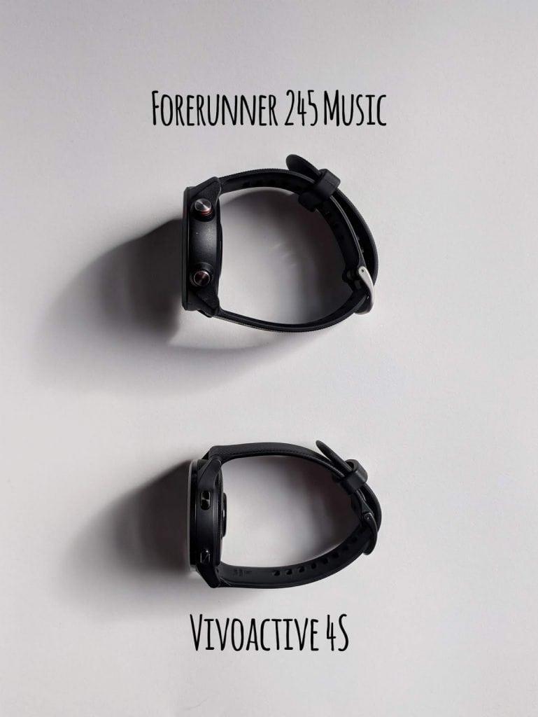 garmin forerunner music 245 vs. vivoactive 4s