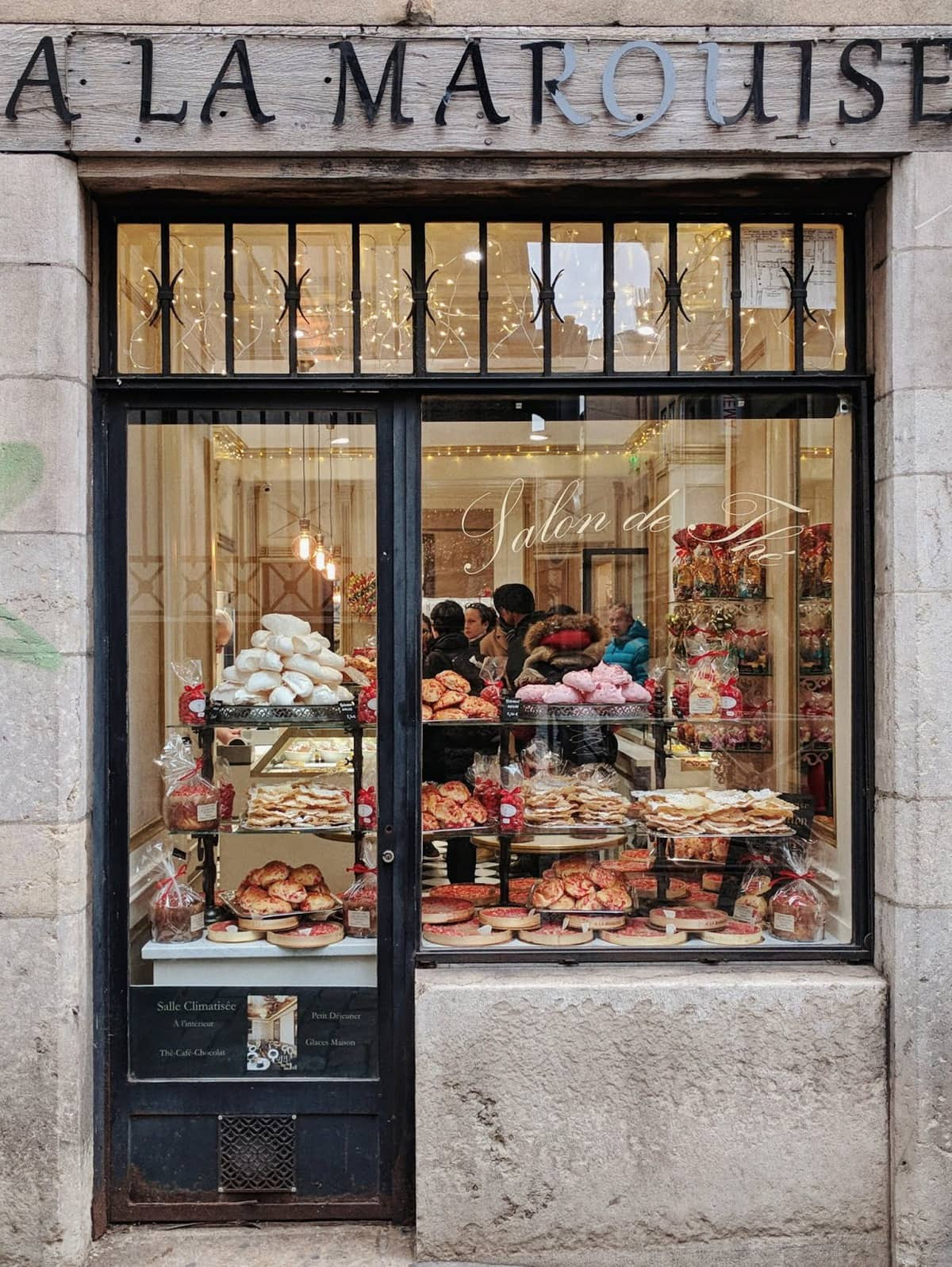 a pastry shop in Lyon Old Town