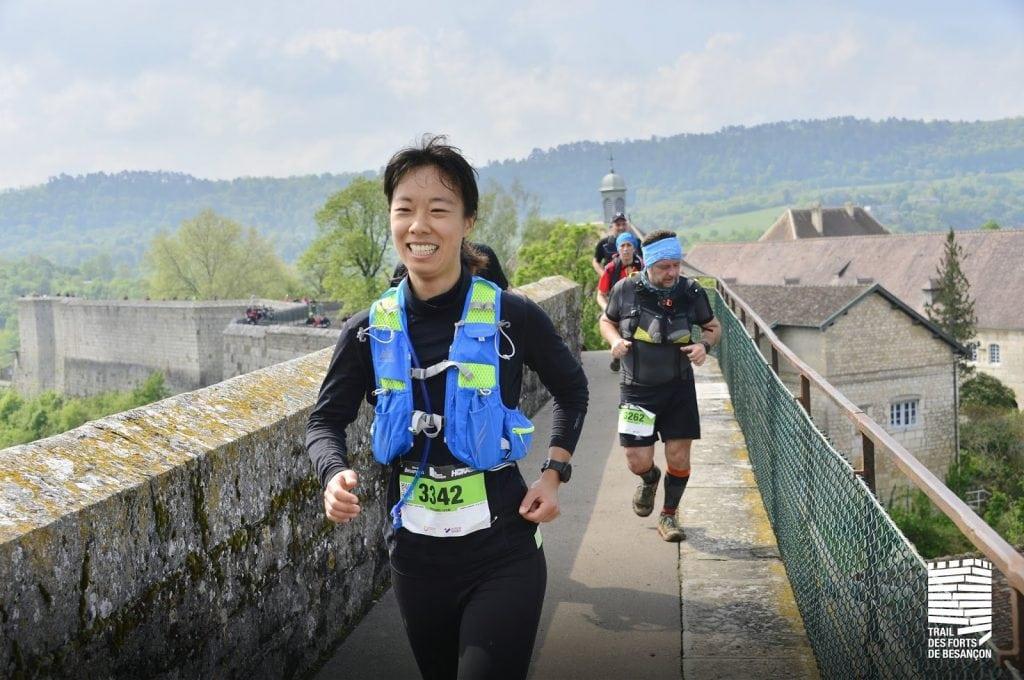 courir sur la citadelle de Besançon