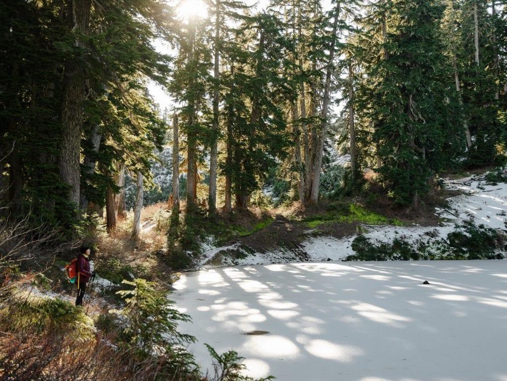 frozen virgin lake