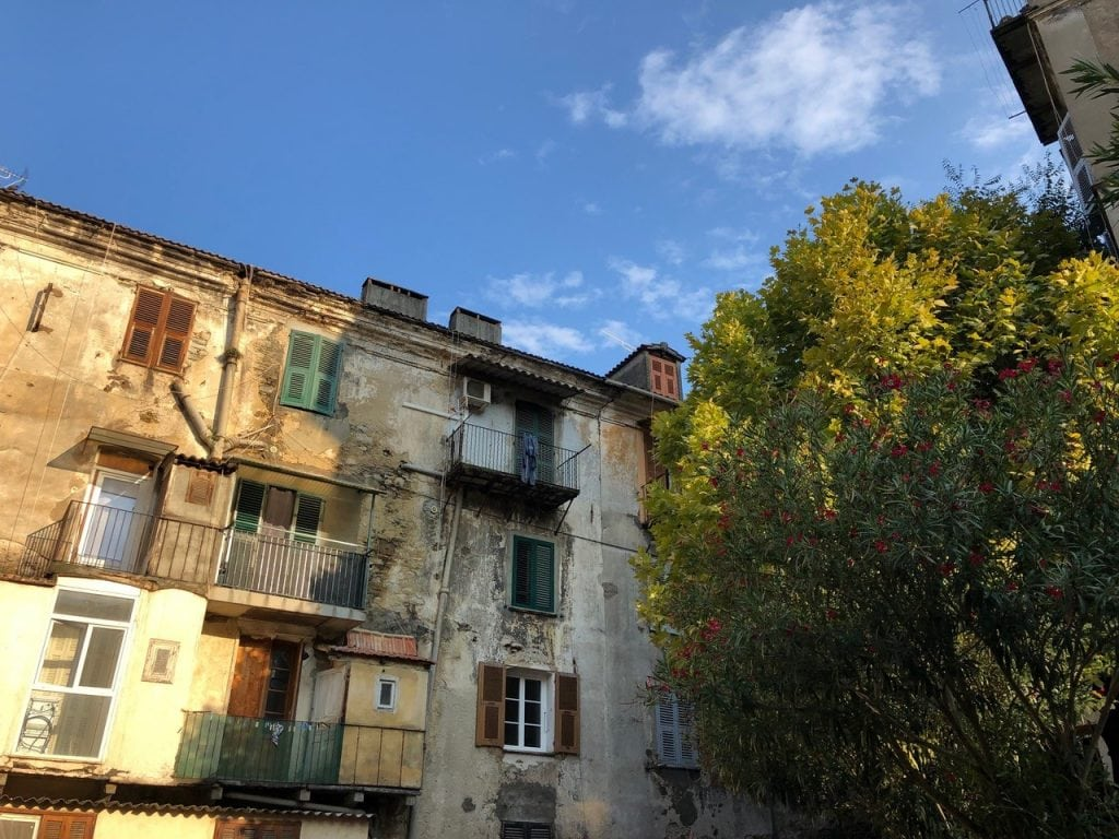 buildings in corsica, france