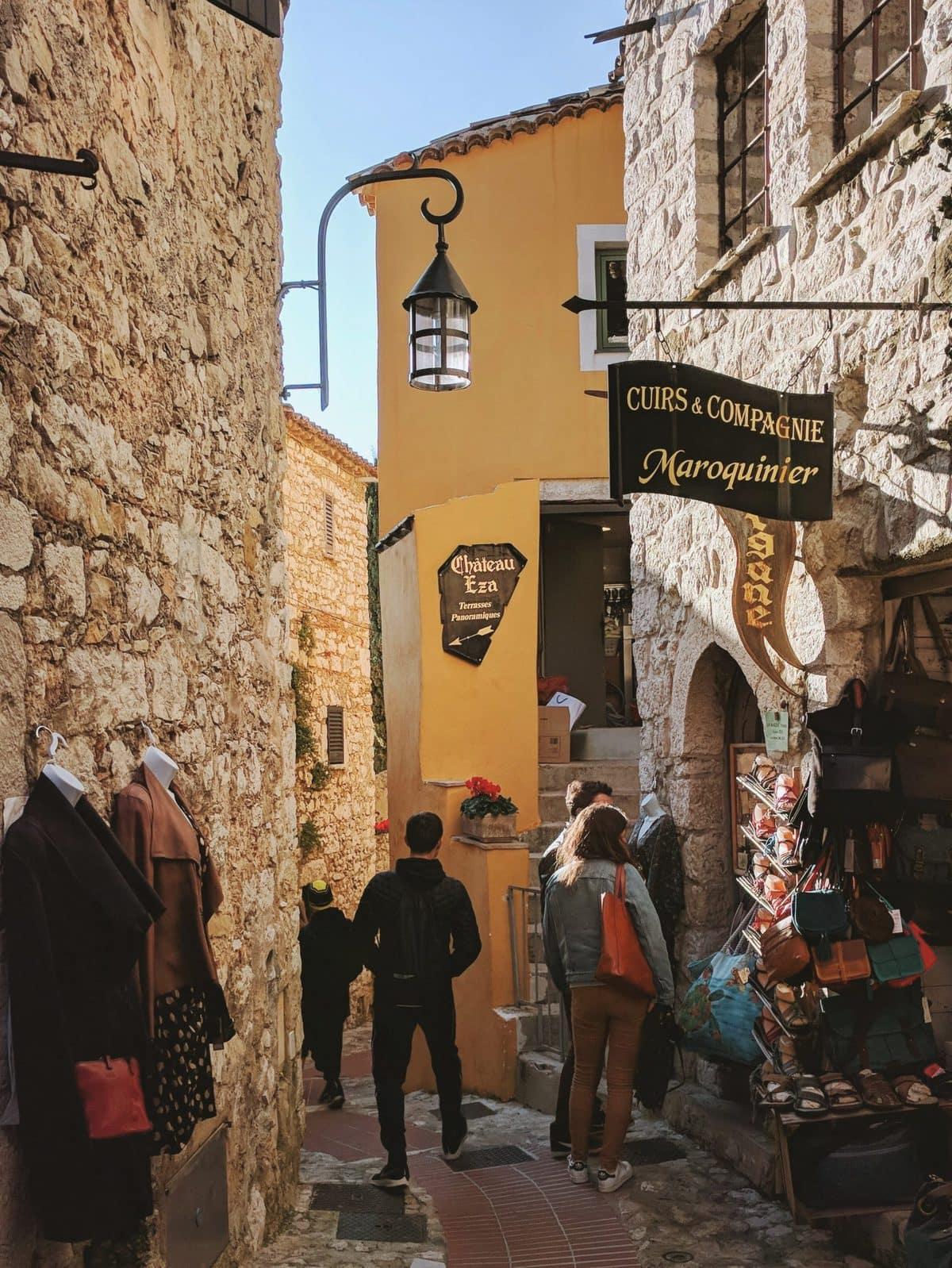 Artisan shops in Eze Village