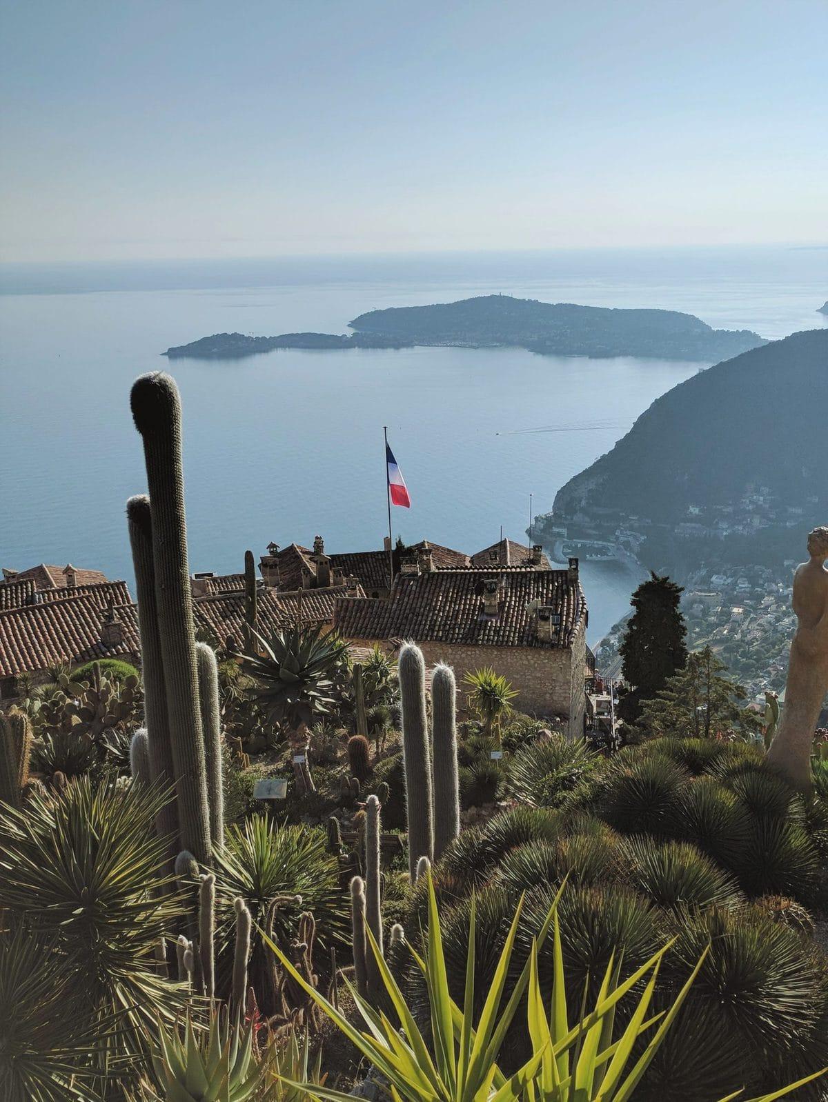 Botanical garden at the top of Eze Village overlooking the ocean