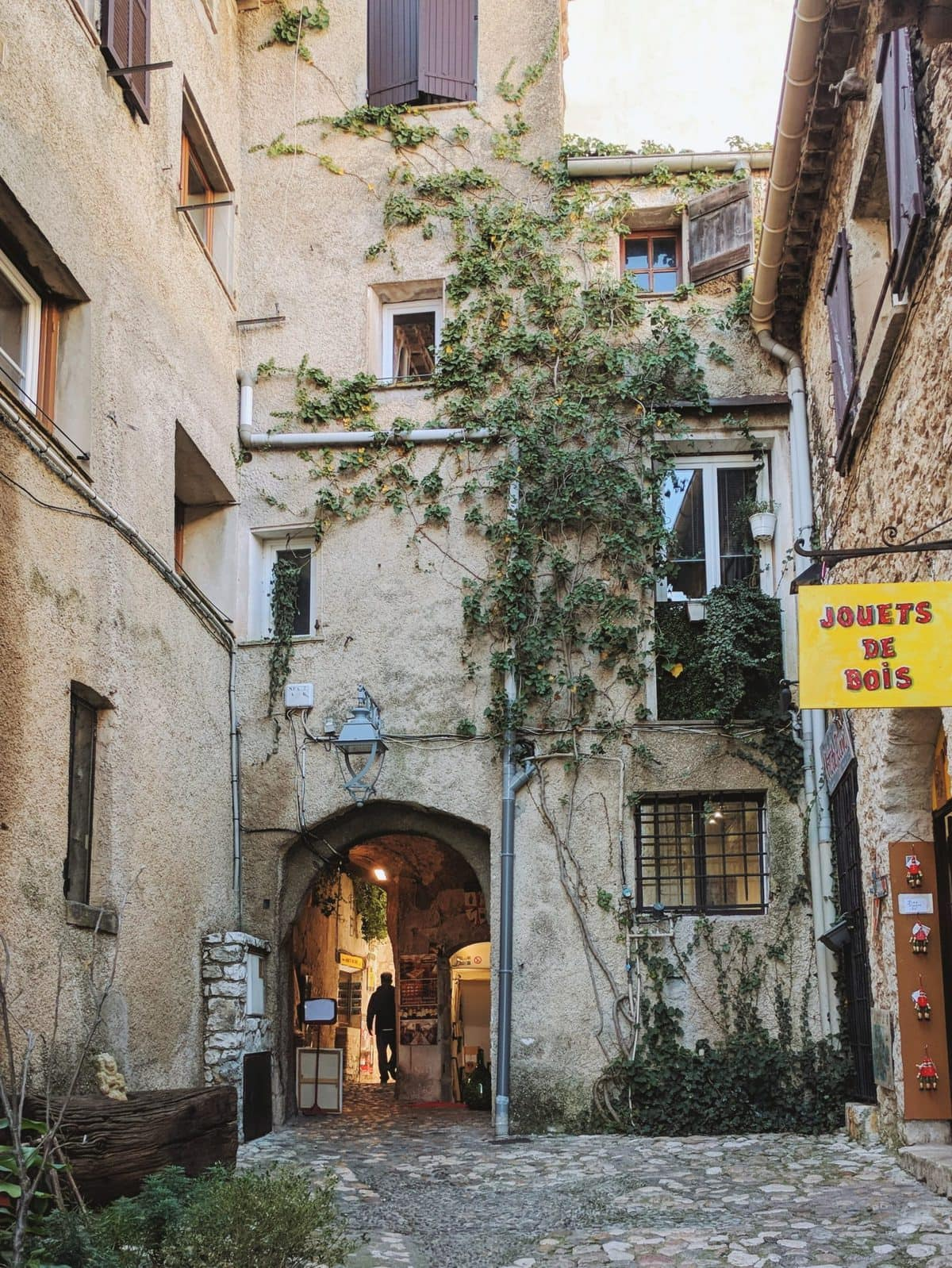 Ivy-covered building in Saint-Paul-de-Vence
