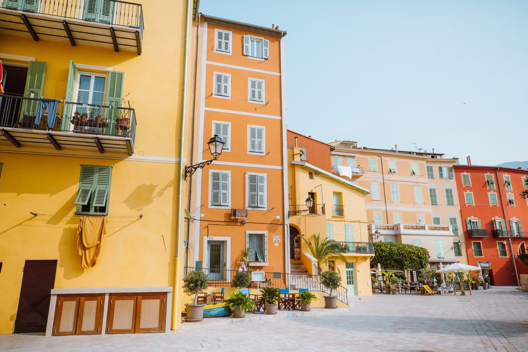 Colorful houses in Menton, France