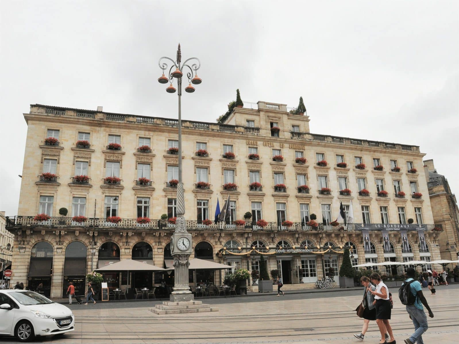 View of the Grand Hotel in Bordeaux, France