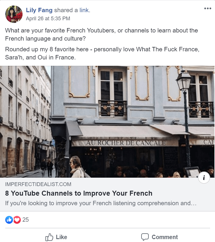 using facebook groups to share posts and encourage discussion