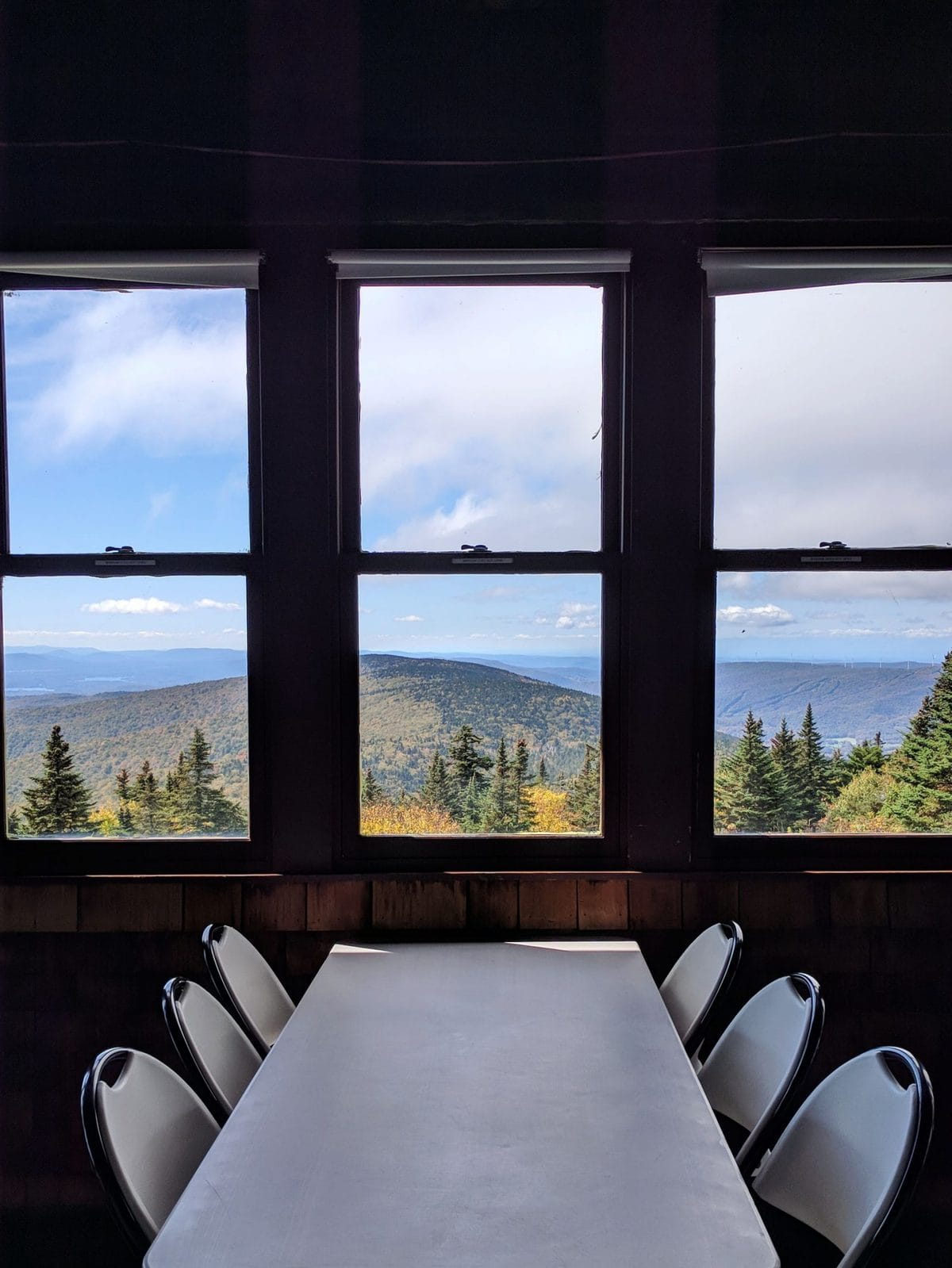 Bascom Lodge Mt Greylock - view from the windows