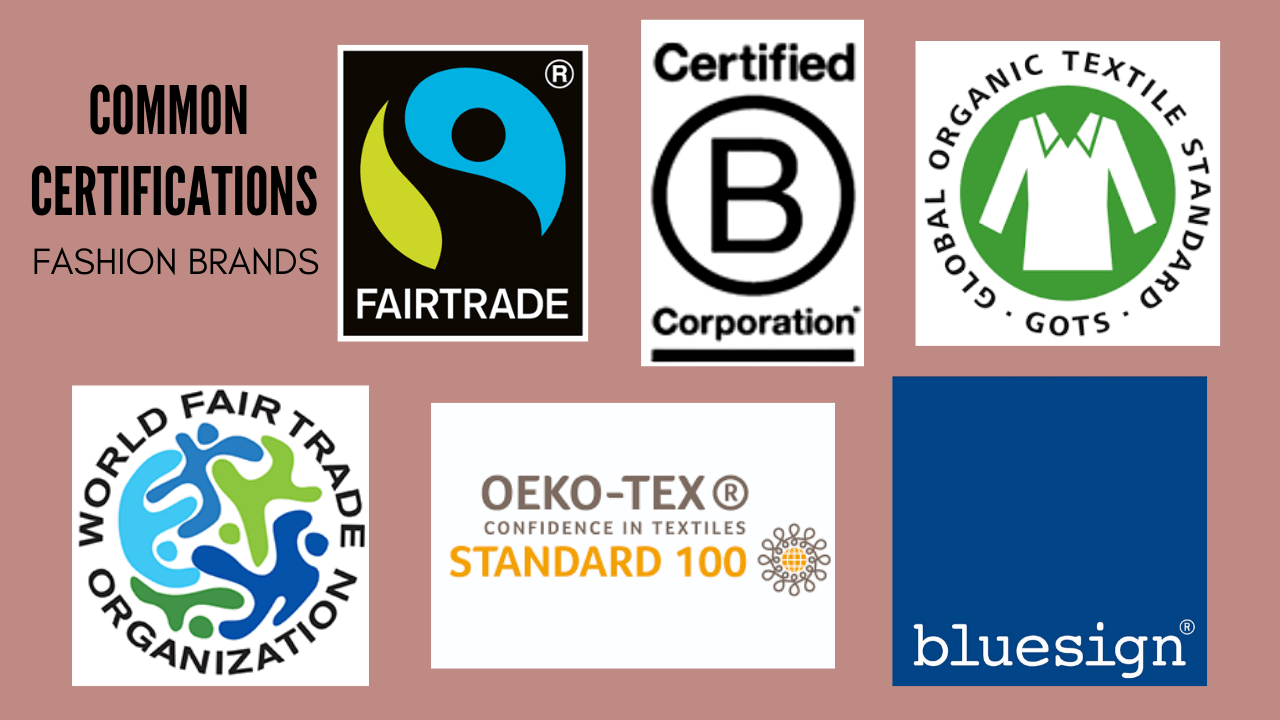 popular third-party certifications for fashion brands