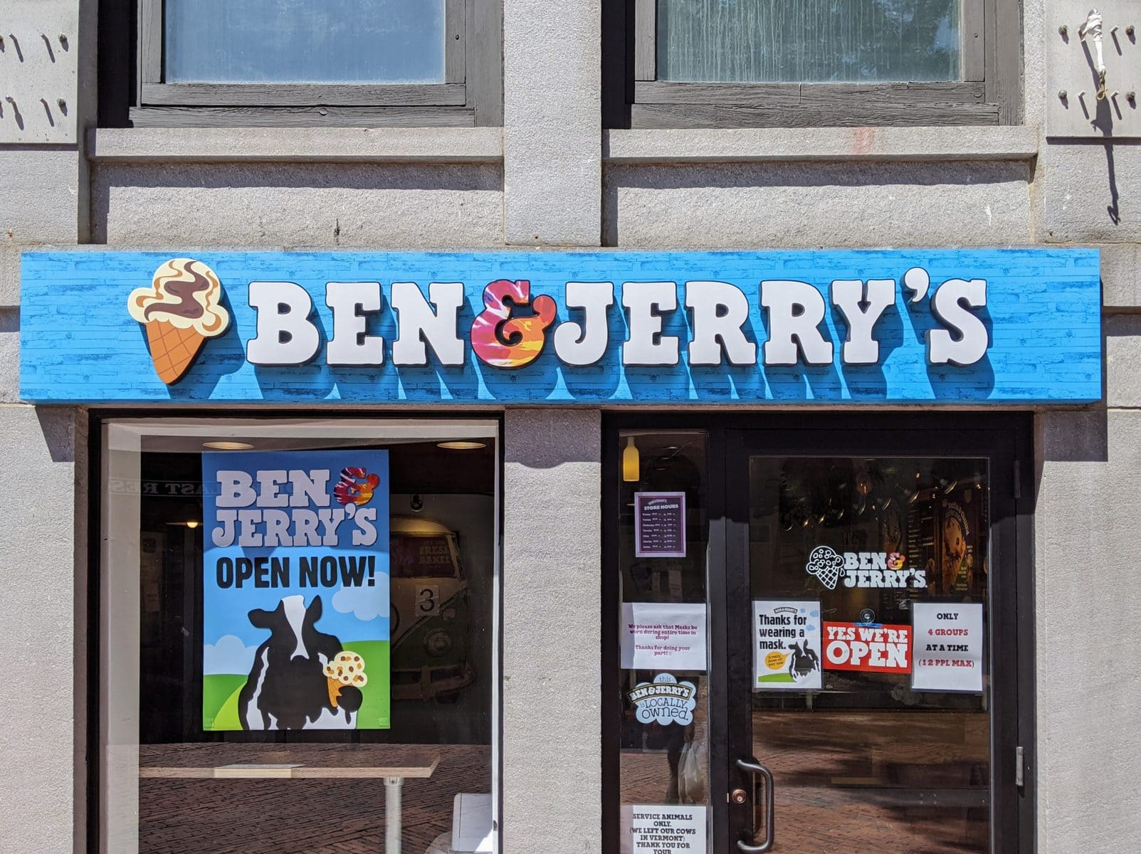 Ben & Jerry's at Faneuil Hall in Boston