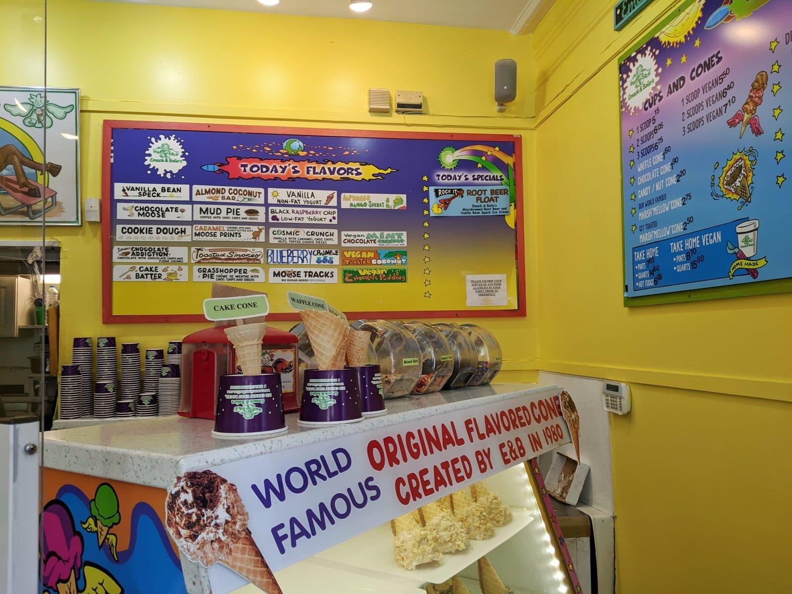 Emack & Bolio's Ice Cream in Boston, Newbury Stree