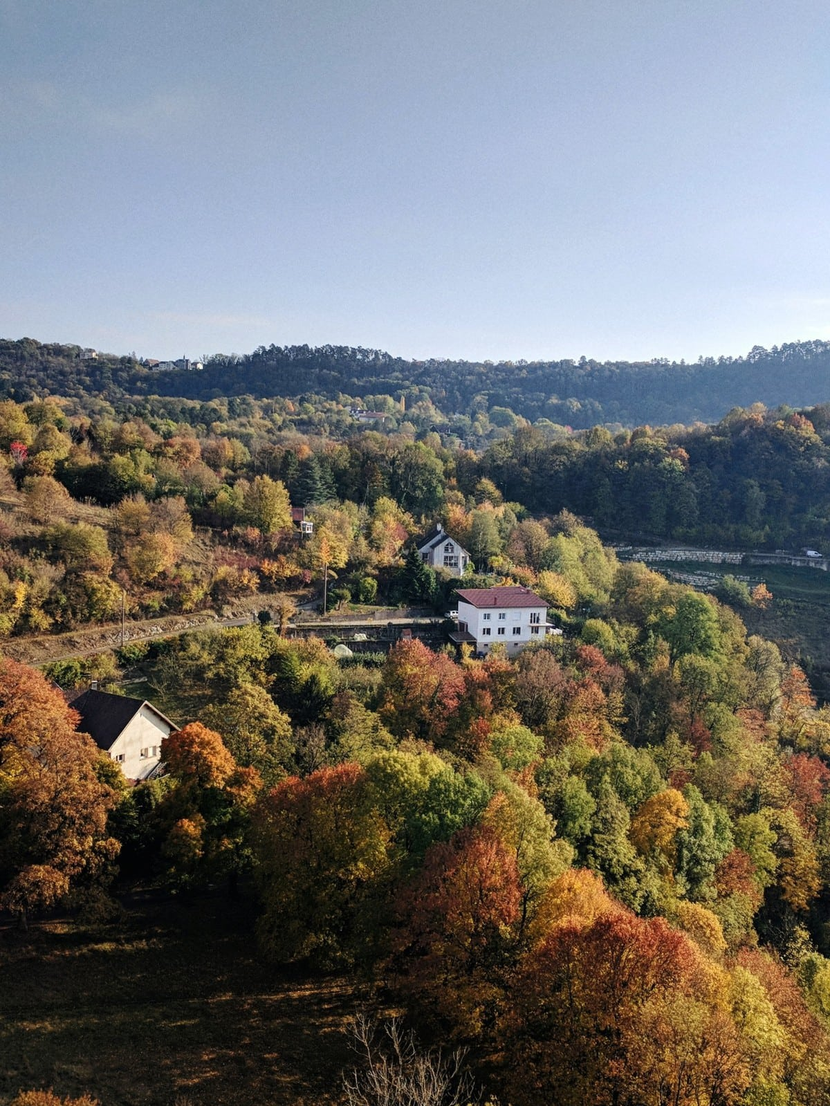 View from the Citadelle de Besançon in the fall