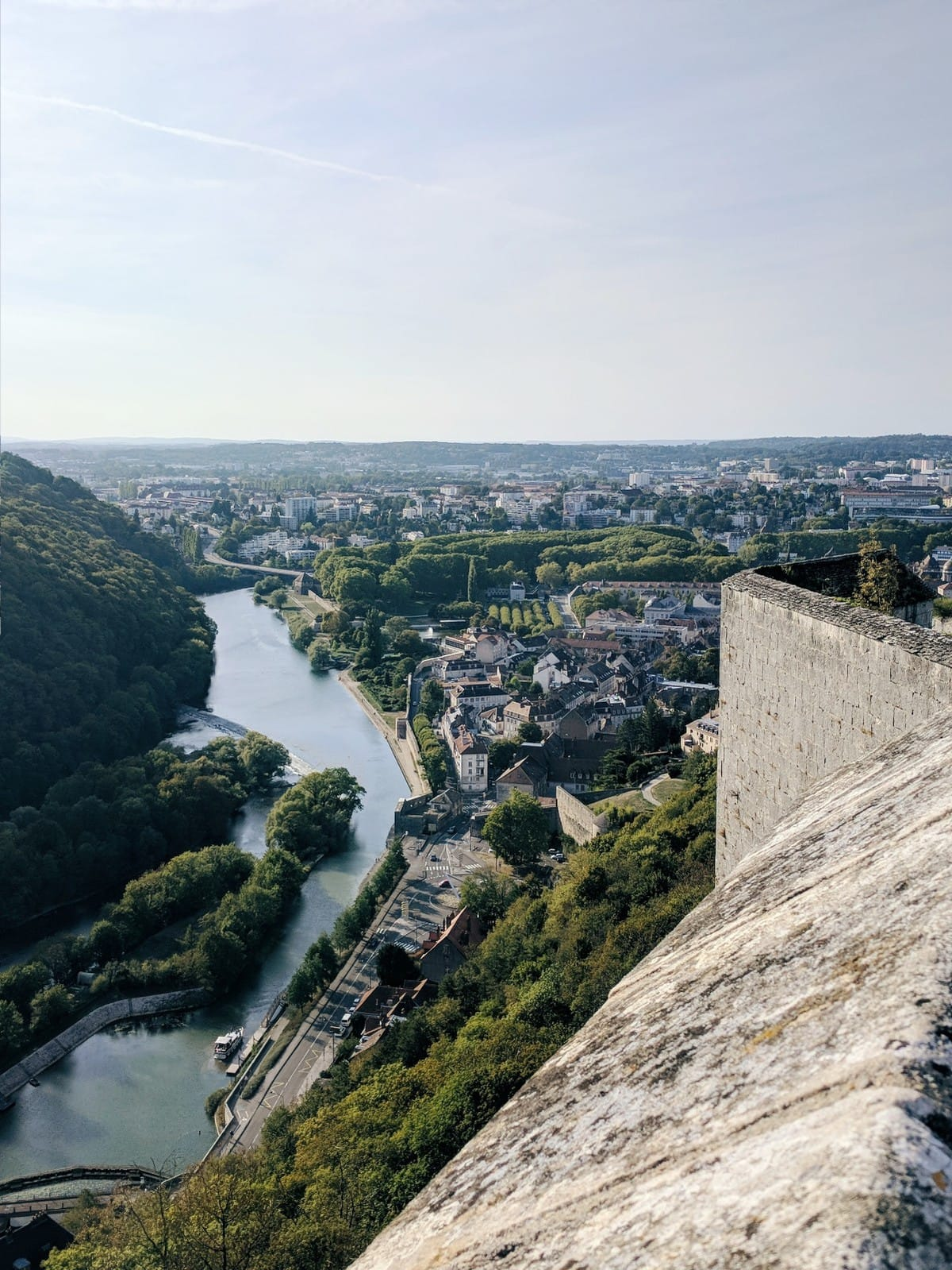 View of Besançon from the Citadel