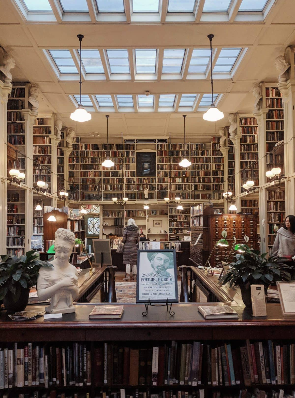 View of the Providence Athenaeum upon entering