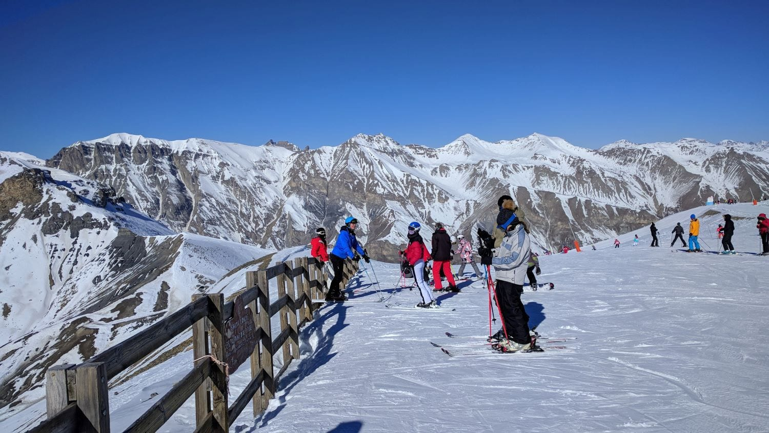 Skiing in Auron, France