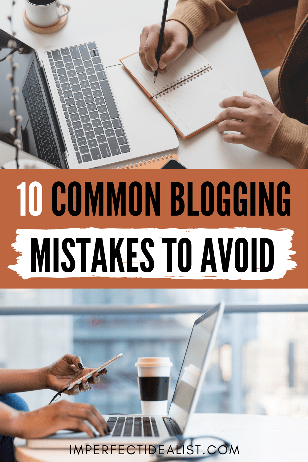 pin for this post that reads '10 Common Blogging Mistakes to Avoid'