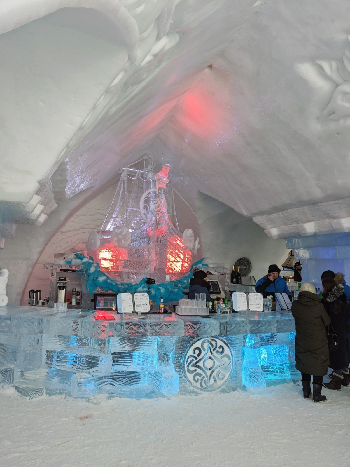 The bar made of ice