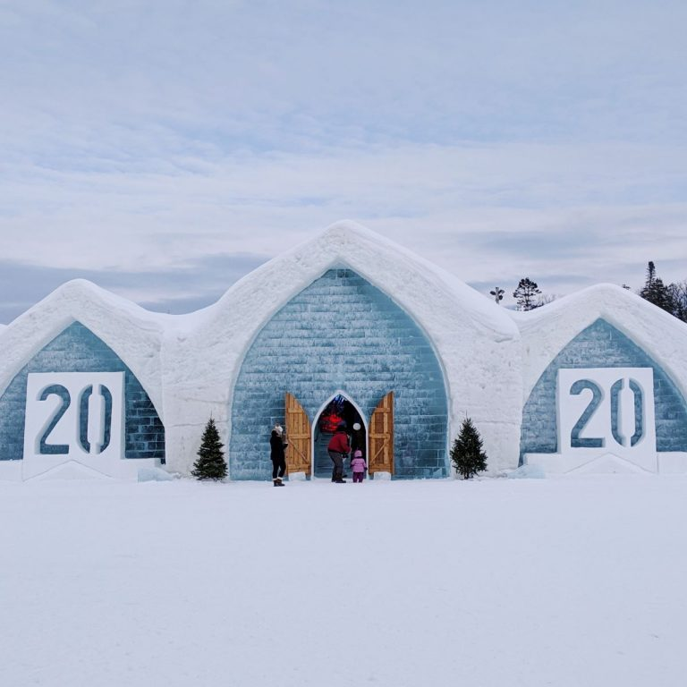 Entrance of the Quebec Ice hotel