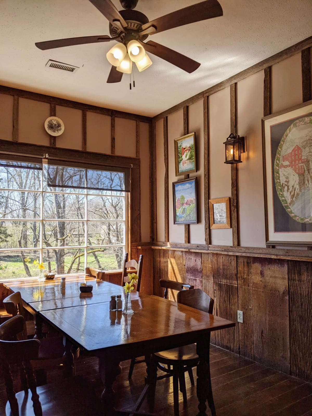 the quaint dining area at Clifton Mill