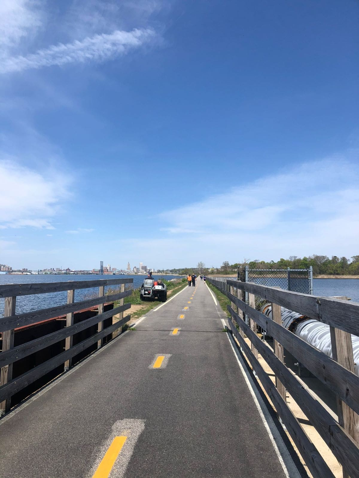 Providence Marathon course along the bike path