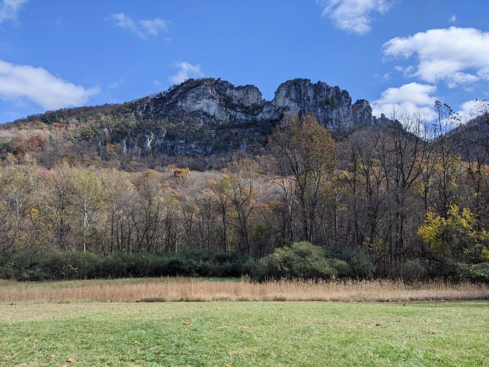 Seneca Rocks from below