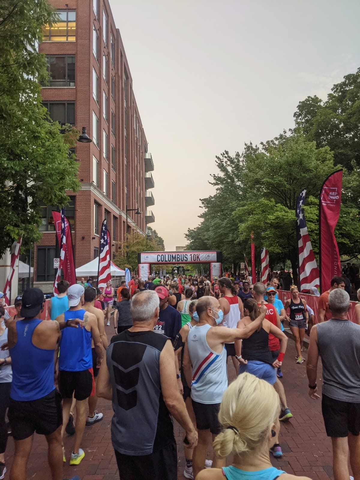 Starting arch of the Columbus 10k